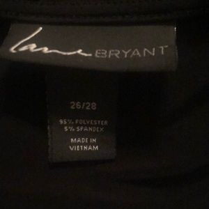 Lane Bryant 26/28 Belted Faux Wrap 3/4 Sleeve